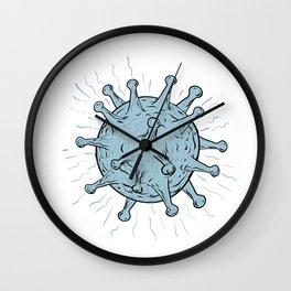 Virus Drawing Wall Clock