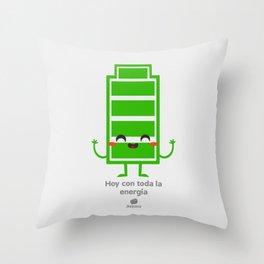 Hoy con toda la energia Throw Pillow