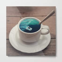 A Cup Of Surfer! Metal Print