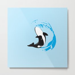 Oh Whale! | Animals Metal Print