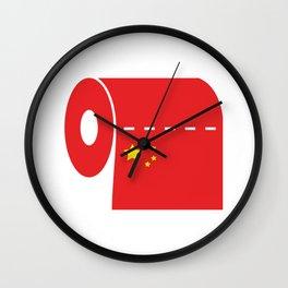 CCP Toilet Paper Wall Clock
