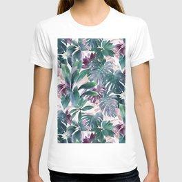 Tropical Emerald Jungle in light cool tones T-shirt