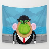 magritte Wall Tapestries featuring Son of the tuber  by Fabian Gonzalez