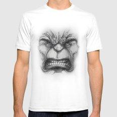 Hulk face Mens Fitted Tee White MEDIUM