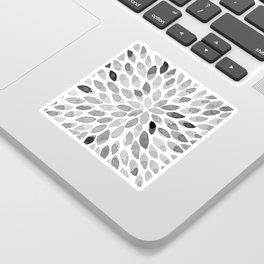 Watercolor brush strokes - black and white Sticker