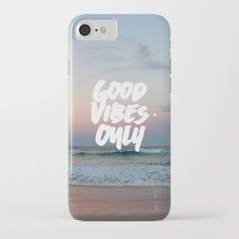 Good Vibes Only Beach and Sunset iPhone Case