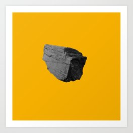 Yellow Boulder Art Print
