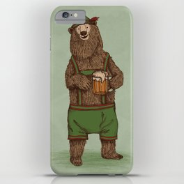 Traditional German Bear iPhone Case