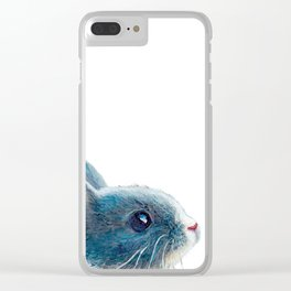 cute bunny illustration Clear iPhone Case