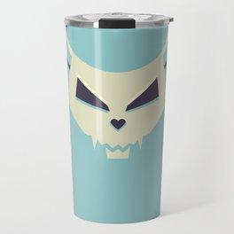 Pastel Evil Cat Skull Travel Mug