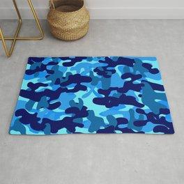 Camouflage (Blue) Rug