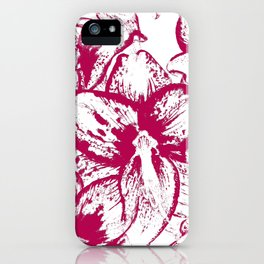 Pattern with flowers of amaryllis iPhone Case
