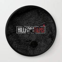 Hillfort Films Black Wall Clock