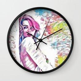 Margot Robbie - Celebrity Art (Creative Illustration) Wall Clock