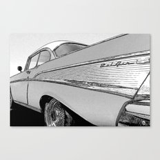 Chevrolet Bel Air 1957 - Pencil Sketch Style Canvas Print