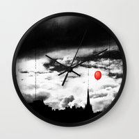 gotham Wall Clocks featuring Gotham city by Anna Andretta