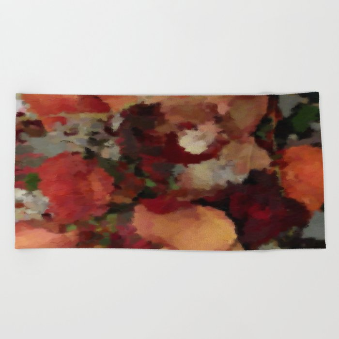 Autumn Mosaics Watercolor 2484 Beach Towel