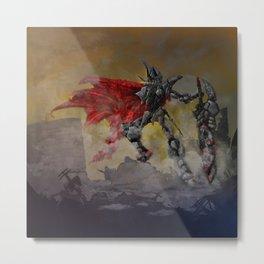 Chrome Knight Metal Print