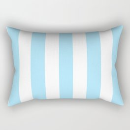 Fresh Air heavenly -  solid color - white vertical lines pattern Rectangular Pillow