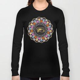 Eye of Horus Mandala Long Sleeve T-shirt