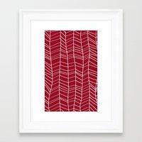 herringbone Framed Art Prints featuring Herringbone  by Rachelmel1