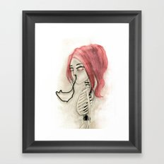 The inability to perceive with eyes notebook III Framed Art Print