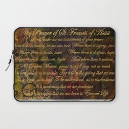 The Prayer of St Francis of Assisi Laptop Sleeve