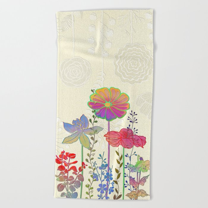 Flower Tales 4 Beach Towel