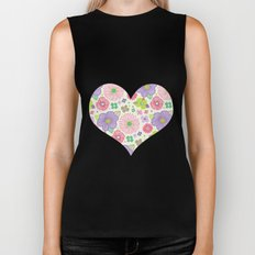 happy flowers Biker Tank