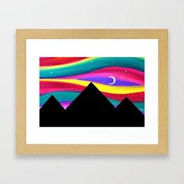 Moonlight Magic - Pyramids Silhouette Framed Art Print