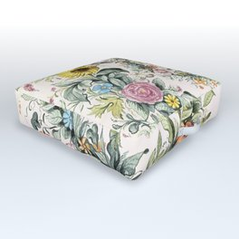 Circle of life- floral Outdoor Floor Cushion