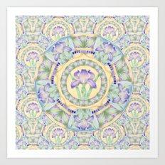 Iris Nouveau Art Print