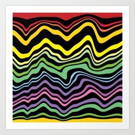 Tasting the rainbow Art Print