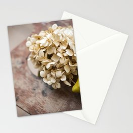 lemon trees and hot tea Stationery Cards