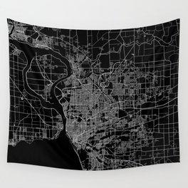 Buffalo map New York Wall Tapestry