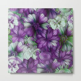Violets and Greens Metal Print