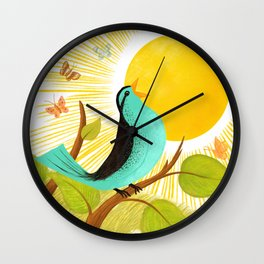 Early To Rise Wall Clock