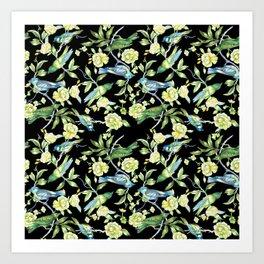 Botanical Tea Party Art Print