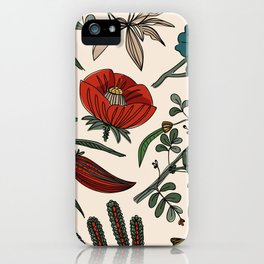 Pattern from field flowers and herbs iPhone Case
