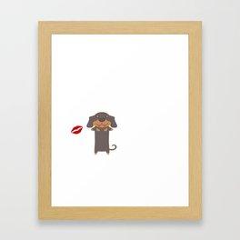 I Kissed A Dachshund And I Liked It Cute Dog Kiss Gift Idea Framed Art Print