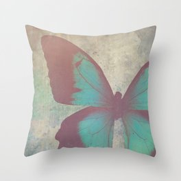 Painted Butterfly Throw Pillow