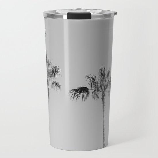 Black Palms // Monotone Gray Beach Photography Vintage Palm Tree Surfer Vibes Home Decor by palmtreeprints