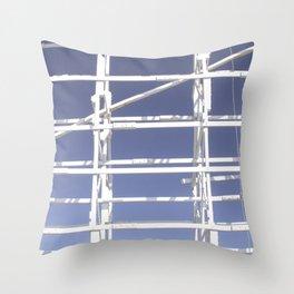 Wooden roller coaster Throw Pillow