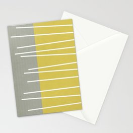 MId century modern textured stripes Stationery Cards
