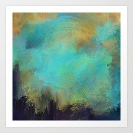 A Splash of Light   Abstract Painting Art Print