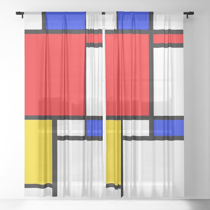Mondrian Sheer Curtain