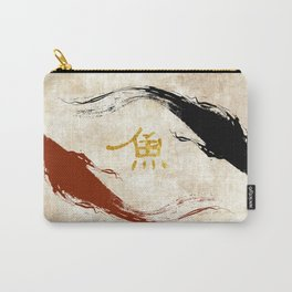 Koi Fish | Gold Carry-All Pouch