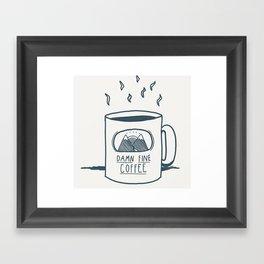 Damn fine coffee Framed Art Print