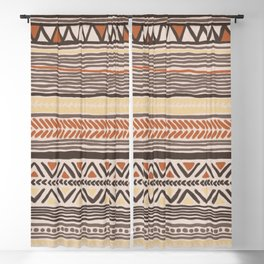 Hand Drawn Ethnic Pattern Blackout Curtain