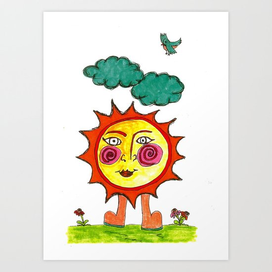 """Here Comes The Sun"" Art Print"